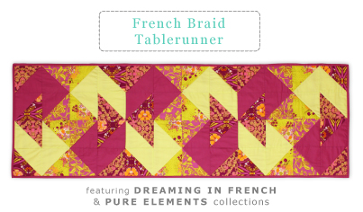 French Braid Tablerunner